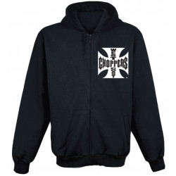 Hoodie West Coast Choppers Classic Noir   [1] Taille S