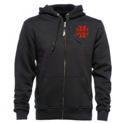 Hoodie West Coast Choppers RED OG Classic Zip Black | [1] Size S