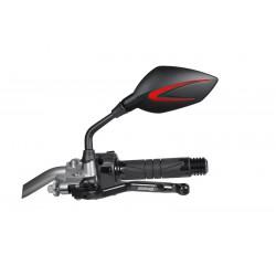 Rétroviseur Chaft Extra noir/rouge 10mm