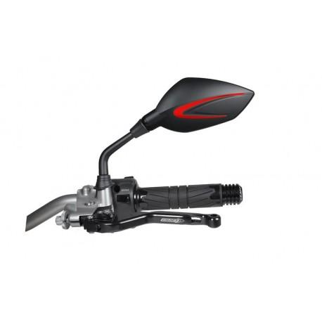Rückspiegel Chaft Extra schwarz/rot 10mm