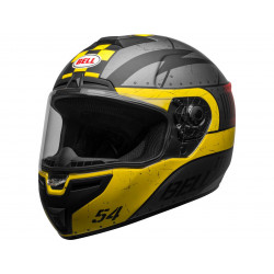 Casque BELL SRT Devil May Care Matte Gray/Yellow/Red