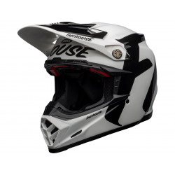 Casque BELL Moto-9 Fasthouse Newhall Gloss White/Black