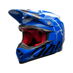 Casque BELL Moto-9 Flex Fasthouse DID 20 Gloss Blue/White