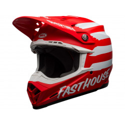 Casque BELL Moto-9 Mips Fasthouse Signia Matte Red/White