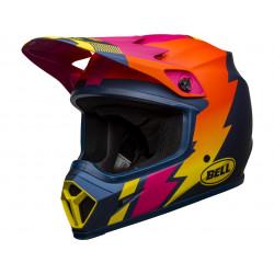 BELL MX-9 Mips Helmet Strike Matte Blue/Orange/Pink