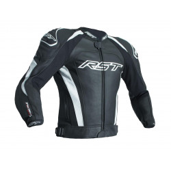 RST TracTech Evo 3 Jacket CE Leather Black / White