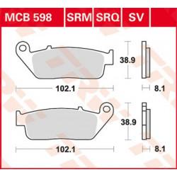 Plaquettes de frein Avant TRW / Lucas MCB752CRQ