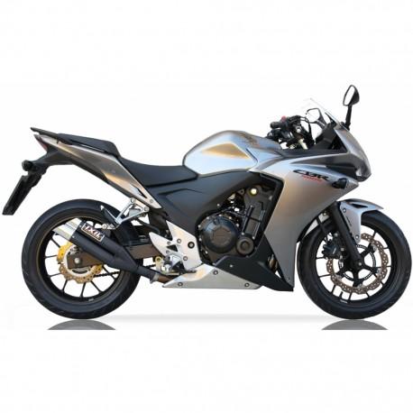 Echappement Ixil Dual Hyperlow noir pour Honda CBR 500 R / CB 500 FA 13-15 // CB 500 XA 13-16 (PC44,PC45,PC46)