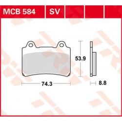 Plaquettes de frein TRW MCB584