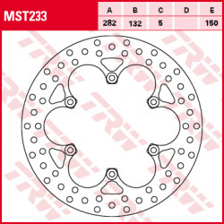 Disque de frein TRW MST233