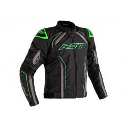 RST S-1 Jacke Textil Schwarz/Grau/Fluo Grün Herren