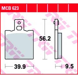 Plaquettes de frein TRW MCB623