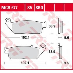 Plaquettes de frein Avant TRW / Lucas MCB677