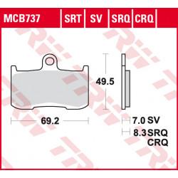 Plaquettes de frein Avant TRW / Lucas MCB737