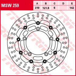 Disque de frein Avant TRW MSW259