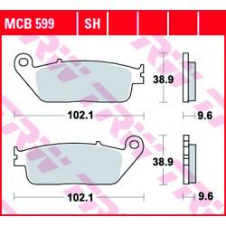 Plaquettes de frein Avant TRW MCB599