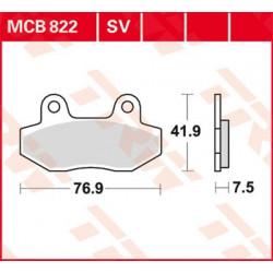 Plaquettes de frein Avant TRW MCB822