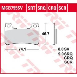 Plaquettes de frein Avant TRW MCB755