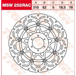 Disque de frein Flottant TRW / Lucas MSW258RAC