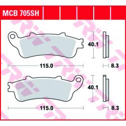 Plaquettes de frein TRW MCB705