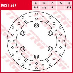 Disque de frein Fixe TRW / Lucas MST247