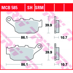 Plaquettes de frein TRW MCB585