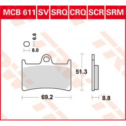 Plaquettes de frein TRW MCB611