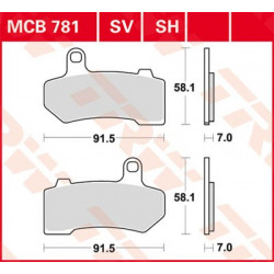 Disc brake pads TRW MCB611