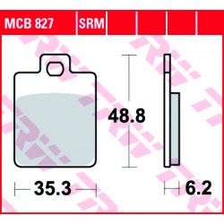 Disc brake pads TRW MCB827