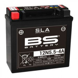 BS BATTERY Battery 12N5.5-4A - Maintenance Free Factory Activated