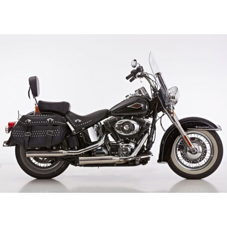 Exhaust Falcon Double Groove silver - Harley-Davidson Softail ...