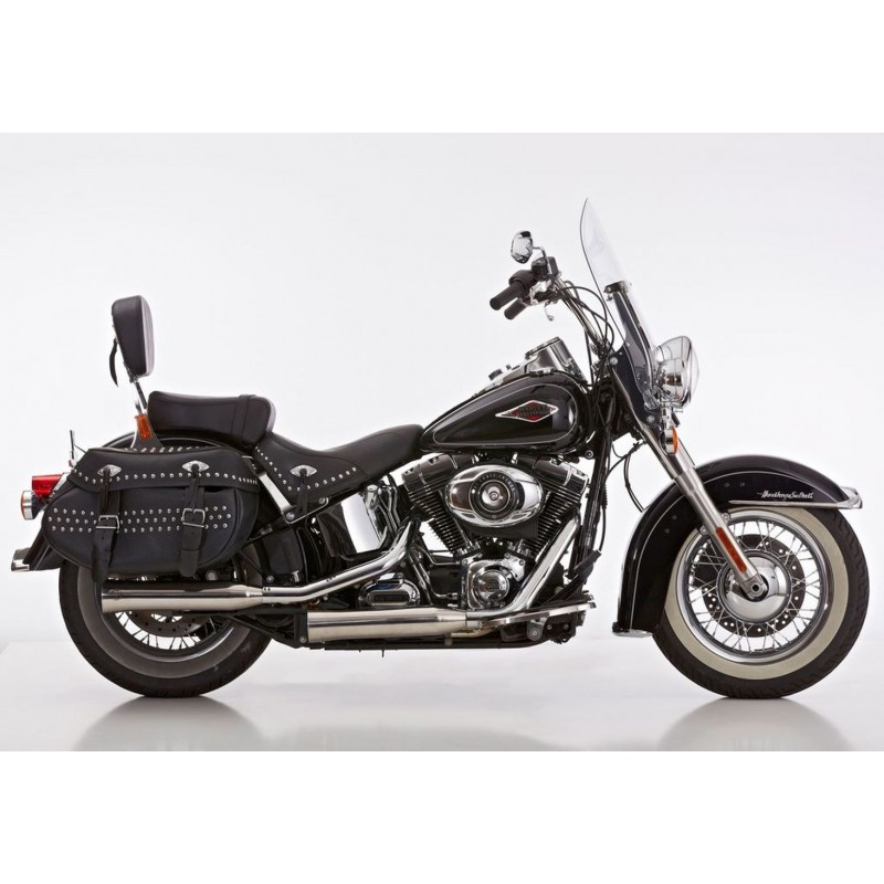 exhaust falcon double groove silver harley davidson. Black Bedroom Furniture Sets. Home Design Ideas