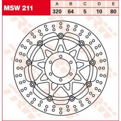 Disque de frein Flottant TRW / Lucas MSW211