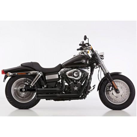 Ligne complète Falcon Double Groove noir - Harley-Davidson Dyna ....
