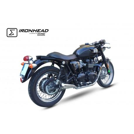 Echappement Ironhead Conic - Triumph Bonneville / T100 07-15