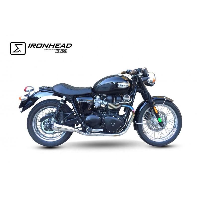 Exhaust Ironhead Conic - Triumph Bonneville / T100 07-15 - moto-parts