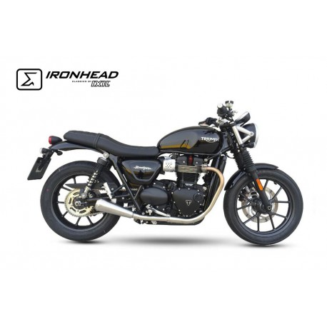 Exhaust Ironhead Conic - Triumph Street Twin