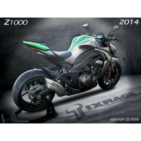 Echappement Ixrace Z7 silver - Kawasaki Z1000 / SX 2010-16