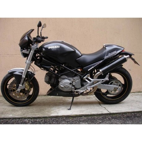 Exhaust Spark Round Carbon High Mounting For Ducati Monster 600