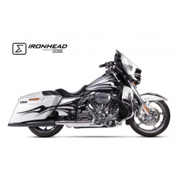 Echappement Ironhead noir - Harley-Davidson Touring Road King /Ultra Limited/Street Glide Cvo 06-16