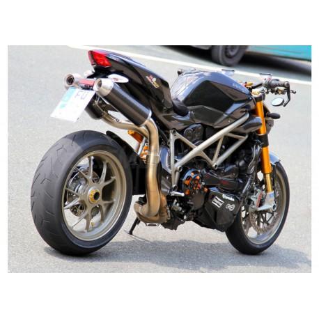 Echappement Spark rond Dark Style - Ducati Streetfighter 848 12-15 / 1098 09-14