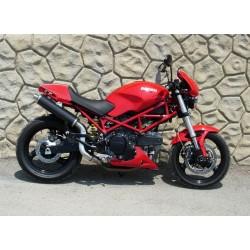 Auspuff Spark Rund high mounting für Ducati Monster 620 / 695 / 750 / 800 / 900ie / 1000 / S4