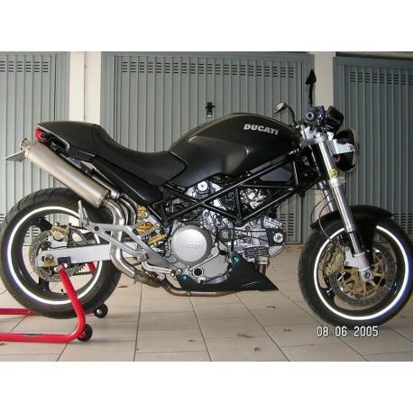 Echappement Spark Rond position haute pour Ducati Monster 620 / 695 / 750 / 800 / 900ie / 1000 / S4