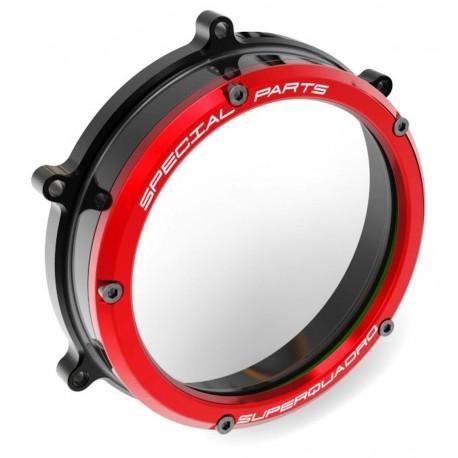 Clear clutch cover Ducabike black / red CC119902DA