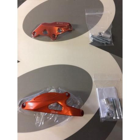 Engine cover protections Orange Bonamici Racing - Honda CBR 600 RR 07-17