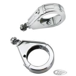 Supports de clignotants rainurés Zodiac pour fourche 49 mm