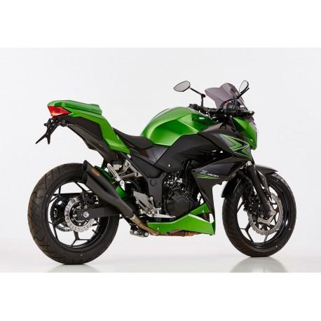Auspuff Hurric Pro2 schwarz - Kawasaki Ninja 300 / Z300 13-16