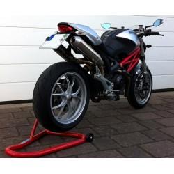 Auspuff Spark Rund High - Ducati Monster 696 08-14 / 796 10-14 / 1100 / S 09-10