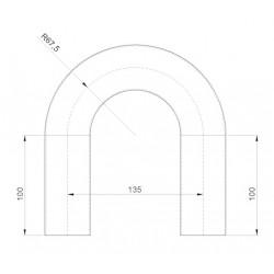 Spark tube 180° D: 45 mm