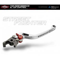 Titax Bremshebel Streetfighter Normal Silber R22